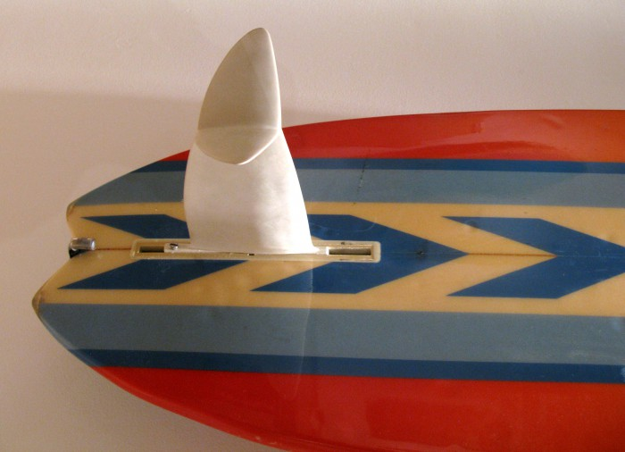 Cheyne Horan/ Ben Lexcen Starfin or winged keel (1980) Surf Craft exhibit Mingei International Museum photo: Merson