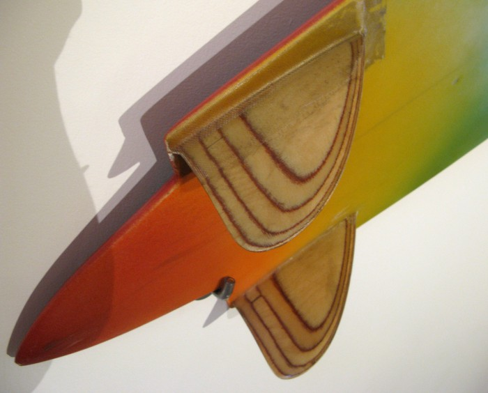 Larry Gephart keels (1978) Surf Craft Exhibit Mingei International Museum photo: Merson