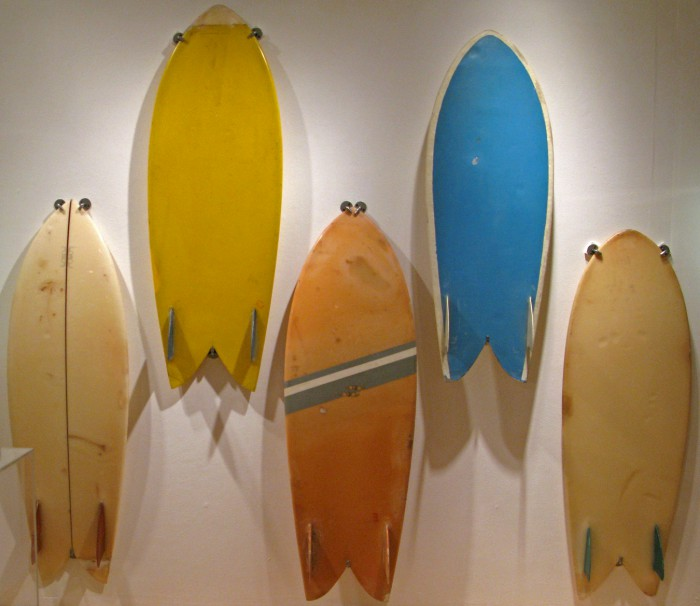 Steve Lis fish, Surf Craft exhibit Mingei International Museum photo: Merson