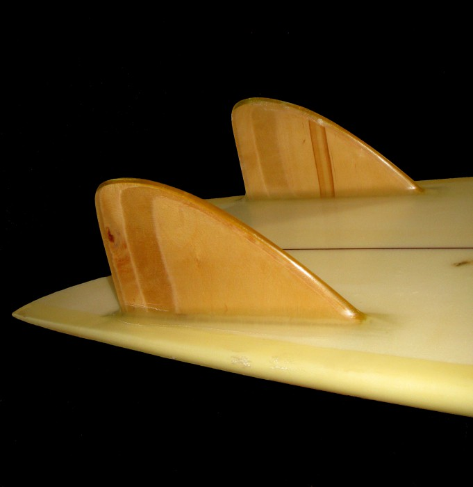 Steve Lis fish, Larry Gephart keel fins, Surfing Heritage & Culture Center collection photo: Merson