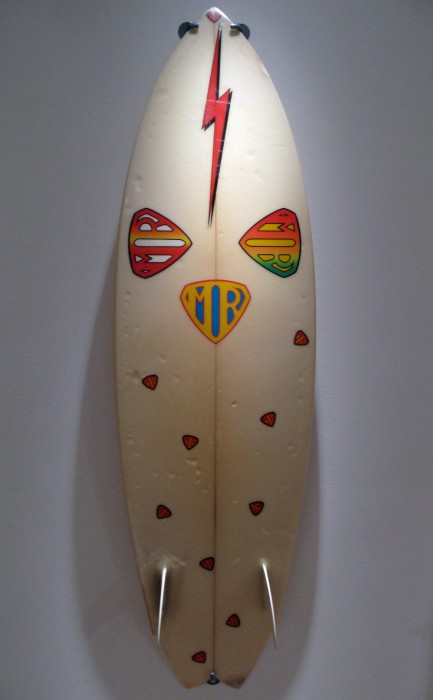 Mark Richards MR Twin Fin (late 1970's) Surf Craft exhibit Mingei International Museum photo: Merson