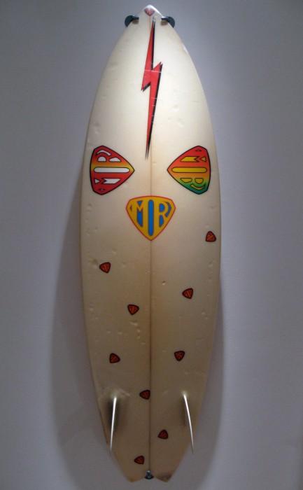 Mark Richards MR Twin Fin (late 1970's) Surf Craft exhibit Mingei International Museum photo: Merson