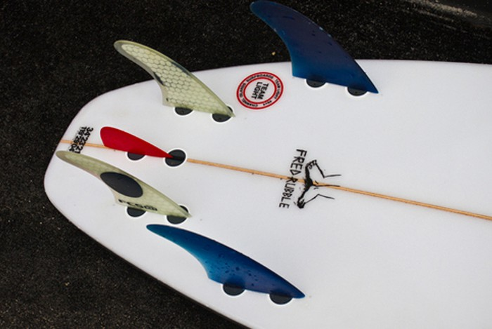 Kelly Slater's Channel Islands Fred Rubble Model 5 Fin with Sean Mattison Nubster