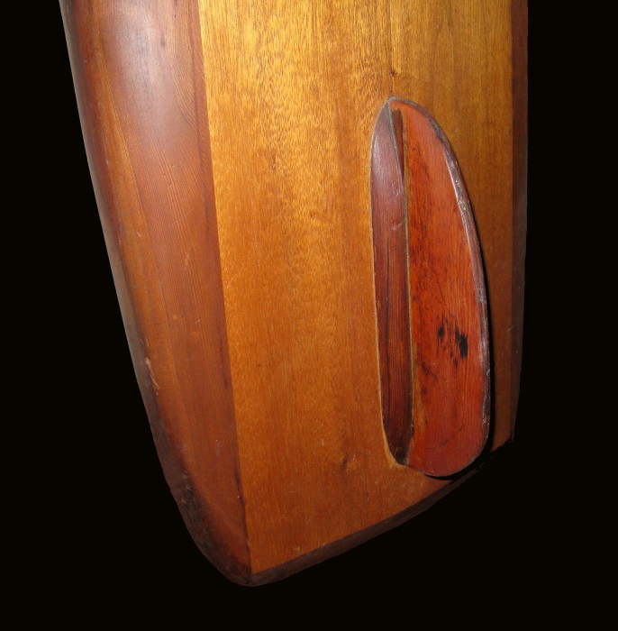 Early wood fin (early 1940s) Surfing Heritage & Culture Center collection photo: Merson